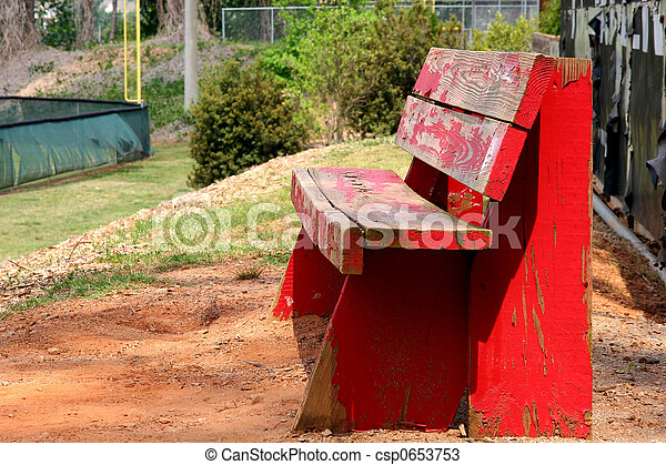 Old Red Bench - csp0653753