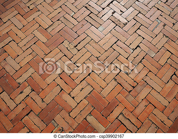Old Red Brick Floor Texture And Background