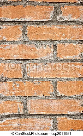 old red brick wall - csp2011951