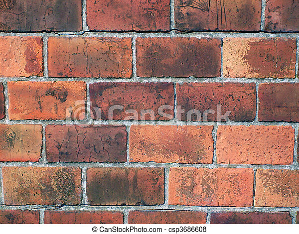 Old red brick wall - csp3686608