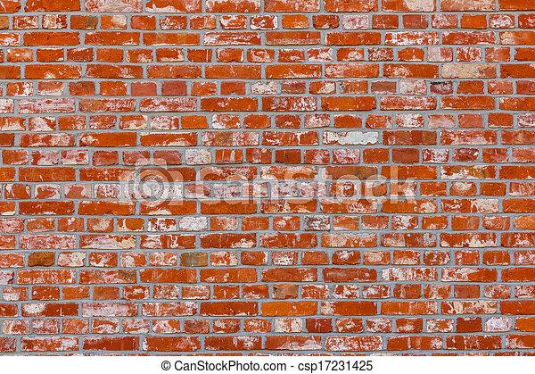 Old red brick wall - csp17231425