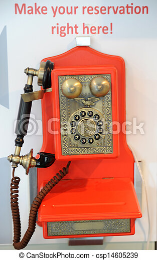 old red phone - csp14605239