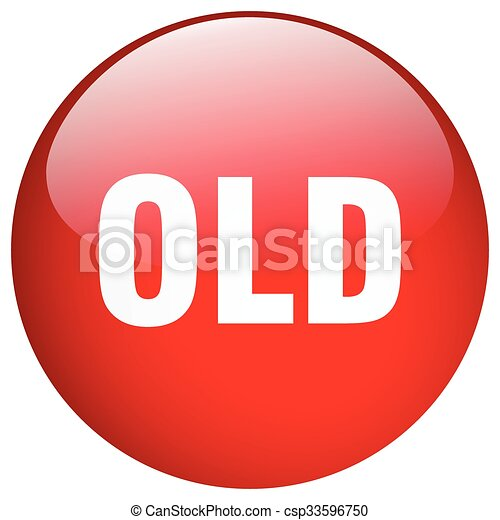 old red round gel isolated push button - csp33596750