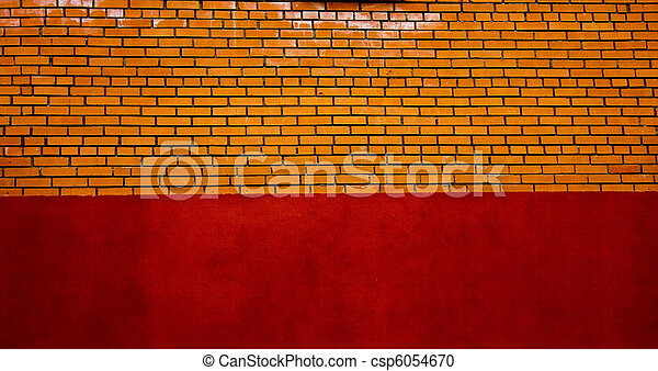 Old red wall - csp6054670