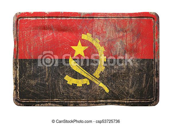 Old Republic of Angola flag - csp53725736