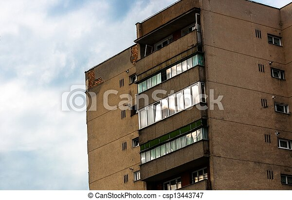 Old residential building - csp13443747