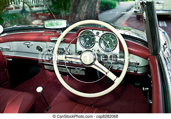 Old Retro Car Interior   Csp8282068