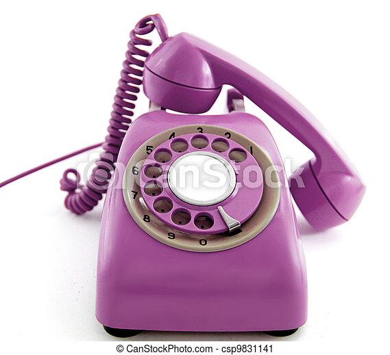 old retro phone - csp9831141