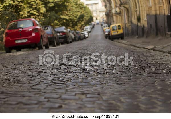 Old roag in Lviv - csp41093401