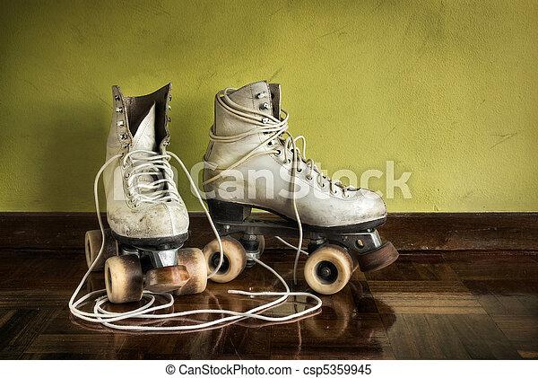 Old Roller-Skates - csp5359945