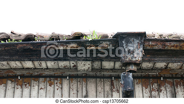 Old roof of house - csp13705662