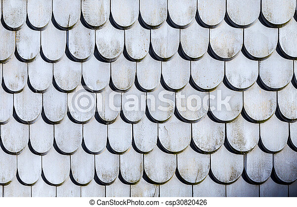 old roof tile structure in grey - csp30820426