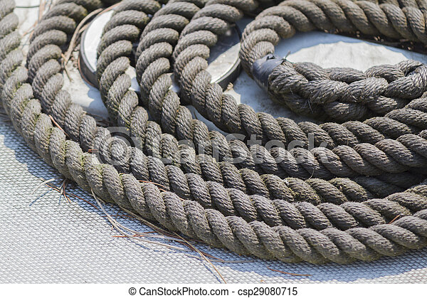 old rope on boat - csp29080715