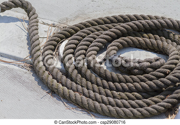 old rope on boat - csp29080716