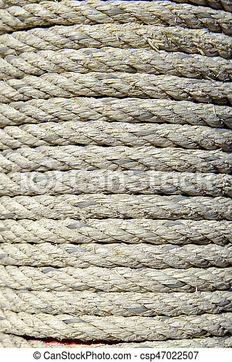 Old Rope on Pole. - csp47022507