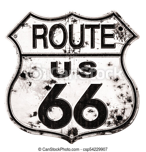 Old Rusted Route 66 Sign Stock Photography Search Pictures And