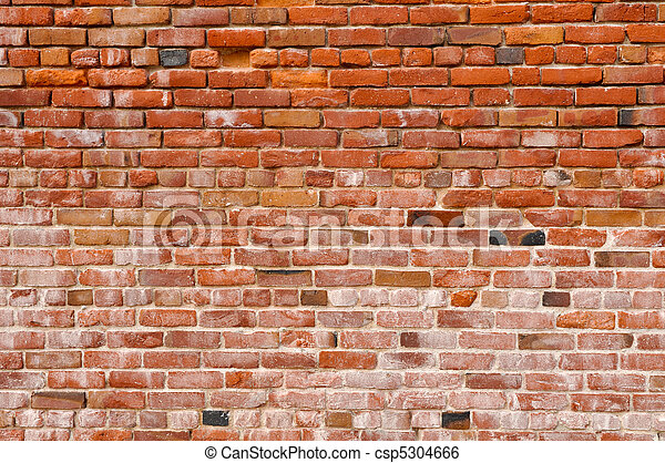 Old Rustic Brick Red Wall Background