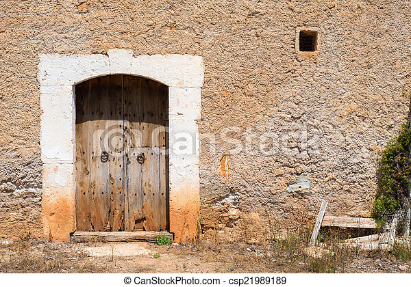 Old Rustic Wooden Entrance (2) - csp21989189