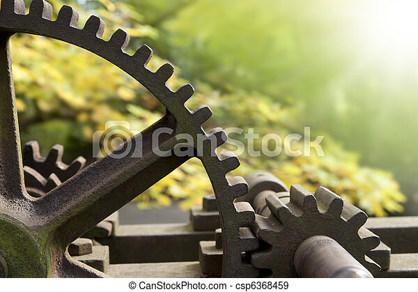 Old rusty gears - csp6368459