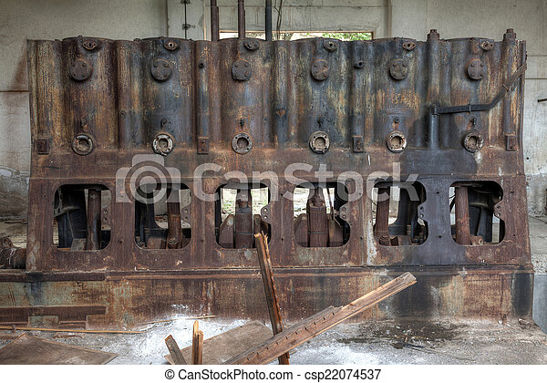 Old rusty industrial machine - csp22074537