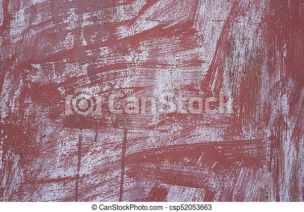 old rusty metal wall Brown background texture - csp52053663