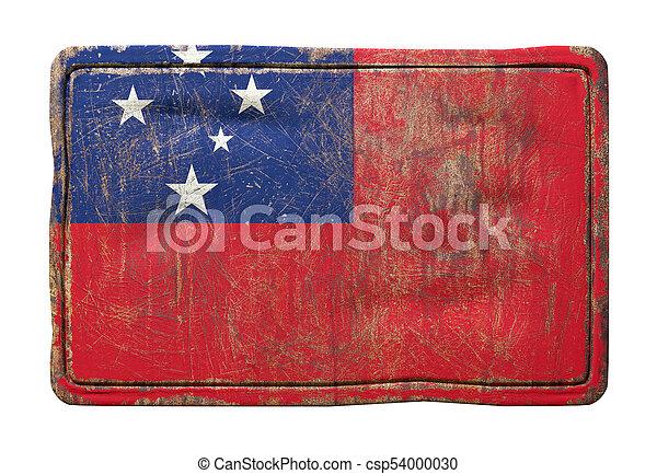 Old Samoa flag - csp54000030