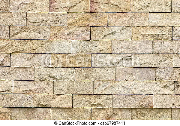 old sandstone wall texture background - csp67987411