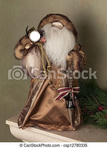 old santa ornament - csp12780335