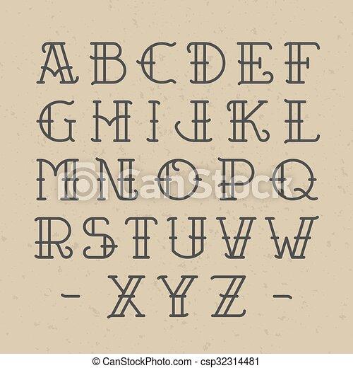 Old school tattoo alphabet old school tattoo alphabet thecheapjerseys Images