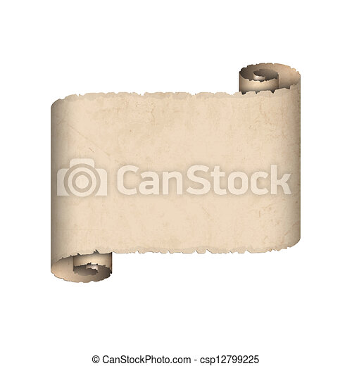 Old scroll paper - csp12799225