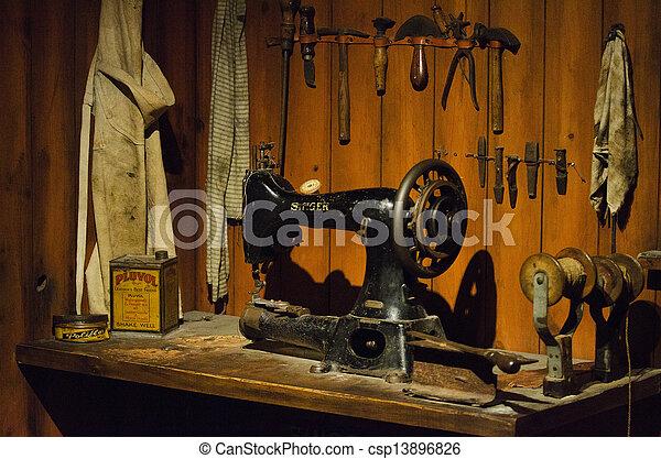 Old Sewing Machine - csp13896826