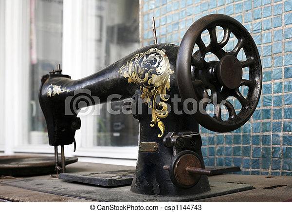 Old sewing machine - csp1144743