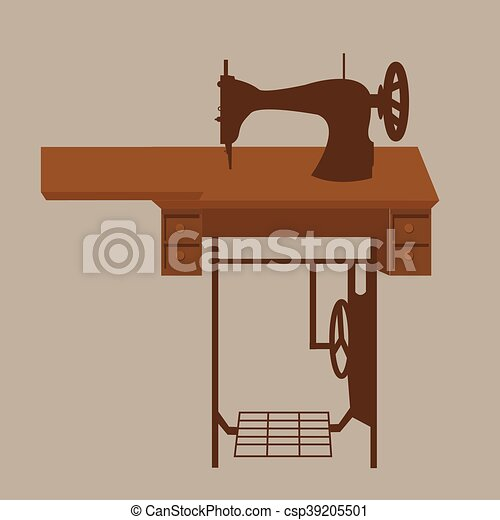 Old Sewing Machine Vintage Antique Tailor Fashion Equipment In Brown Classy Tailor Sewing Machine