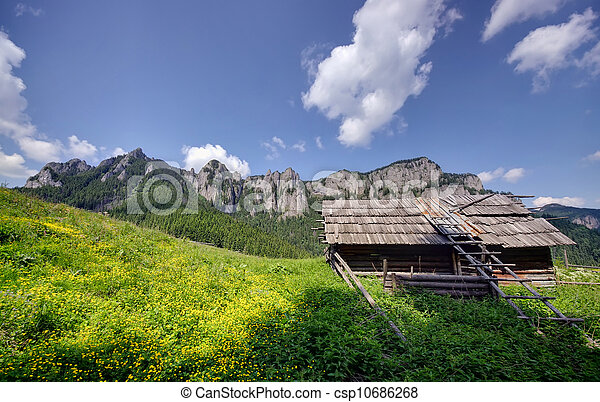 old sheepfold in mountains - csp10686268
