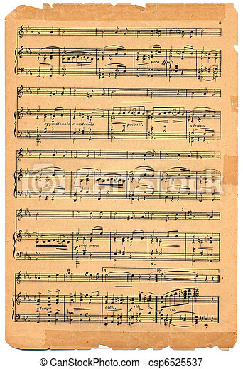 antique sheet Reproduction vintage music or