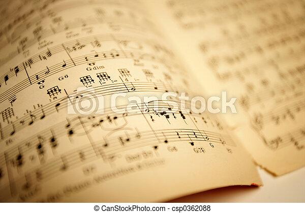 Old sheet music - csp0362088