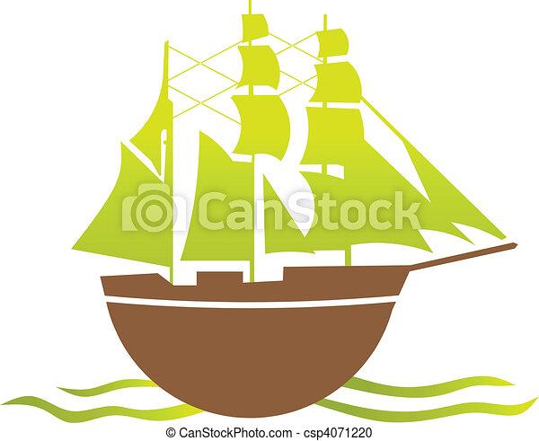 Old ship - csp4071220