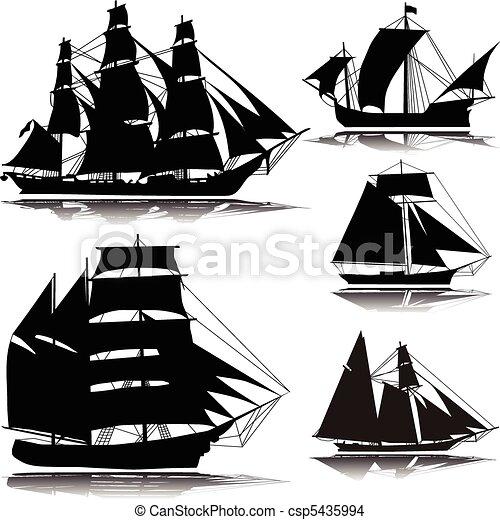 Old ship--vector - csp5435994