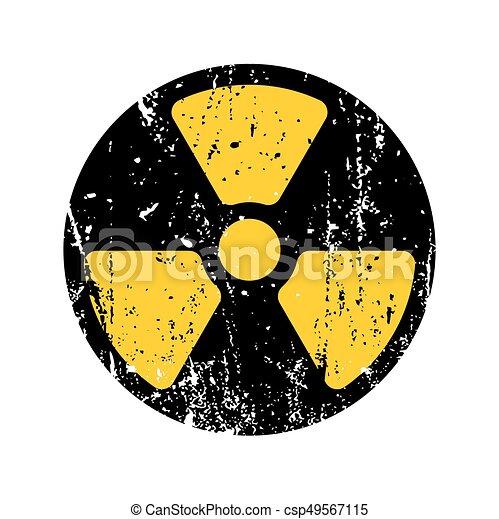 old sign radioactive danger shabby retro toxic danger symbol grunge