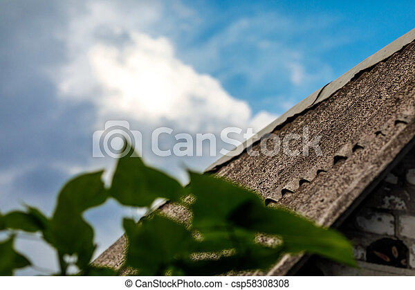 old slate roof - csp58308308