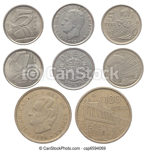Old Spanish coins - csp6594069