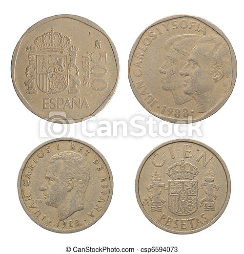 Old Spanish coins - csp6594073