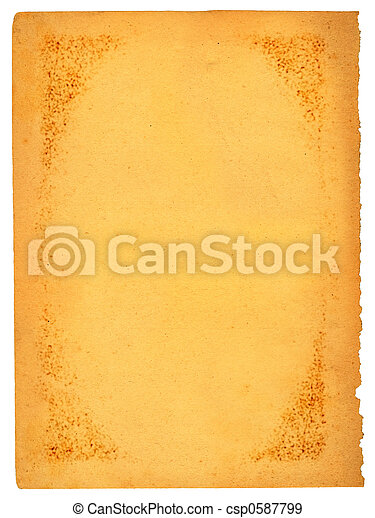 old stained sheet of paper - csp0587799