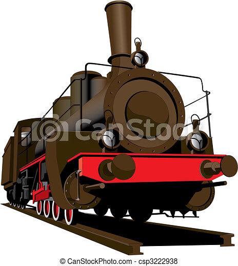 Old steam locomotive - csp3222938