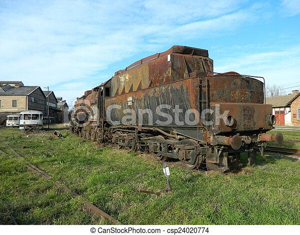 Old steam locomotive - csp24020774