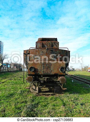 Old steam locomotive - csp27139883