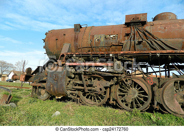 Old steam locomotive - csp24172760