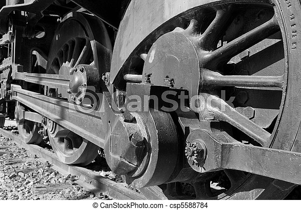 Old steam locomotive - csp5588784