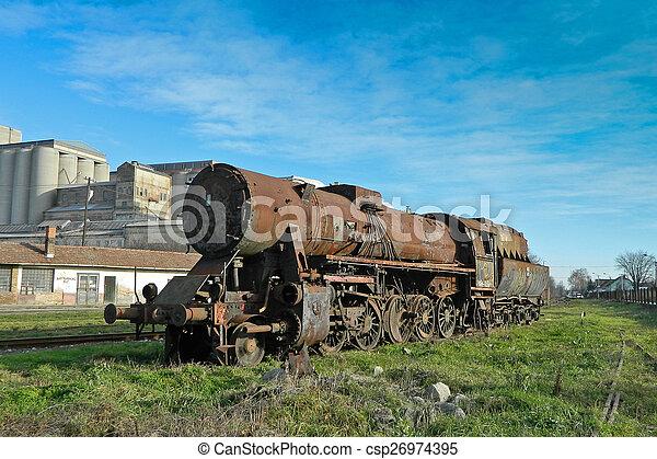 Old steam locomotive - csp26974395