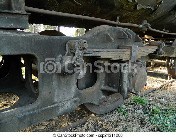 Old steam locomotive - csp24311208